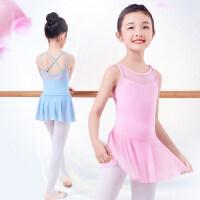 户外儿童舞蹈服女孩跳舞的衣服运动吊带体操服连体练功裙演出服