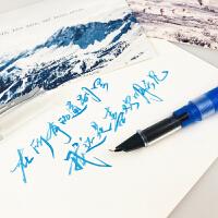 诗色 珀 小弯尖钢笔瘦金体行书书法美工钢笔示范透明钢笔灌墨笔杆