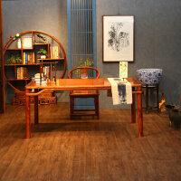 仿古家具书桌画桌国学桌书法桌书架组合实木中式榆木明式办公桌 是