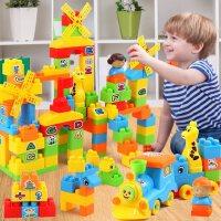 儿童积木拼图拼插玩具益智大颗粒塑料两三四岁宝宝34开发智力男孩