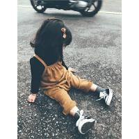 史豌豆童装儿童吊带裤2017秋冬新款纯棉加厚女童连体裤宝宝背带裤