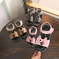 夏季儿童凉鞋男童女童小孩软底宝宝卡通童鞋沙滩鞋潮