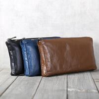 手工真皮皮包钱包钱夹卡包钱袋头层牛皮横款钱包