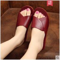 水牛皮拖鞋夏季女士室内防滑木地板居家凉拖鞋卧室拖鞋男式