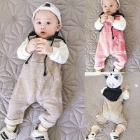 婴儿秋冬装男童装背带裤儿童女宝宝大童外穿保暖休闲套头卫衣裤子
