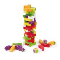 Hape 蔬菜叠叠高 3岁以上 益智创意玩具 经典怀旧 E1008