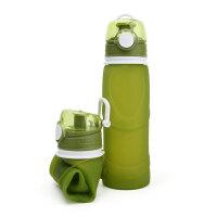 硅胶折叠水壶 户外运动大容量便携骑行登山饮水水杯可伸缩野营