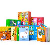 美乐儿童英语识字卡片宝宝早教婴幼儿启蒙英文认知动物闪卡0-3岁