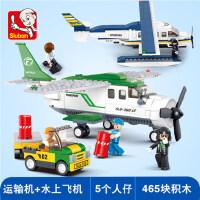 �犯呋�木飞机系列大型客机航天模型男孩益智力拼装玩具拼图6-12岁