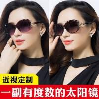 复古圆脸大框墨镜女眼镜 近视偏光太阳镜女 新款有度数墨镜户外遮阳镜