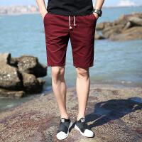 新款休闲短裤男夏天时尚印花5分裤薄款大码青年男式五分裤潮