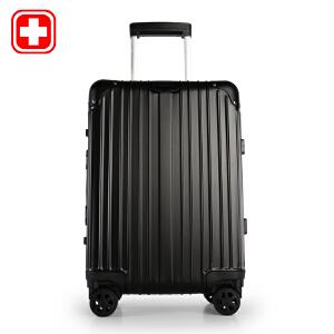 瑞士军刀 20-24寸银色竖条型全铝拉杆万向轮拉杆箱登机箱旅行箱BX851103