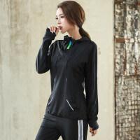大码运动外套女胖mm宽松瑜伽健身速干衣跑步长袖卫衣