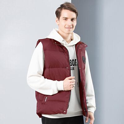 坦博尔羽绒服马甲男士短款时尚休闲2019年冬季新款外套TA18007