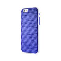 果铺 Bone 苹果 iPhone6/6S 手机壳保护套4.7寸创意边框两用硅胶防摔(蓝色内框蓝底+白色PC框)