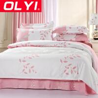 OLYI 纯棉床上用品四件套 全棉斜纹活性印花床单式家纺四件套 纯棉床品四件套 秒杀床上四件套 1.5-1.8米床通用
