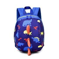 婴儿防走失书包旅行防走丢幼儿背包1-3岁男可爱女宝宝小包包 蓝色 送防走失绳