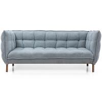 北欧沙发布艺现代简约极简设计师木质四季加厚双人三人可定做沙发