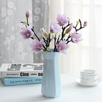 现代简约小清新餐桌客厅装饰摆件创意中式玫瑰假干花陶瓷花瓶水培