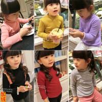 儿童装女童保暖上衣宝宝加绒加厚打底衫小童冬装2018新款F153 MM