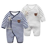 婴儿连体衣服0岁2月5宝宝6新生儿冬装加厚冬季内衣睡衣新年