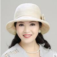 帽子女韩版潮渔夫帽时尚百搭时尚女士盆帽妈妈贝雷帽布礼帽