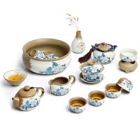 瓷整套茶具粗陶家用功夫茶具套装陶瓷茶壶盖碗茶杯茶洗礼盒装