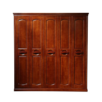 现代中式组装衣柜 木质储物三门四门五门六门衣柜实木家具