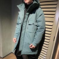 羽绒服男2020新款韩版潮工装中长款男款冬季长款外套