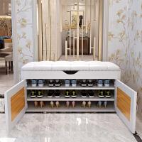 家用换鞋凳式鞋柜储物穿鞋凳 收纳鞋柜可坐门口玄关鞋柜简约现代