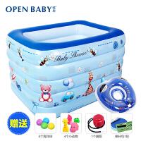 欧培 婴儿游泳池 充气婴幼儿童游泳池加厚泳池保温戏水池游泳桶