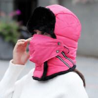 雷锋帽女韩版女士百搭骑车护耳保暖防寒火车头遮脸挡风棉帽子