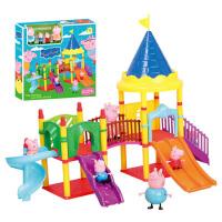 佩佩猪麦当劳游乐园小猪佩奇电动轨道车粉红猪小妹过家家玩具