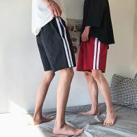 夏季新款男士休闲短裤韩版宽松侧条纹五分裤男运动裤子潮