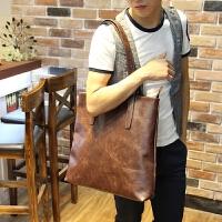 挎包男 韩版流行男包 街头潮流时尚单肩包 手提包大包设计 图色