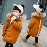 儿童棉衣外套冬装男童羽绒中长款宝宝洋气棉袄韩版潮