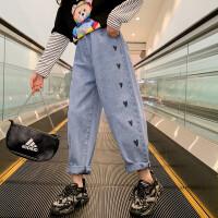 女童牛仔裤春秋儿童休闲长裤外穿春装大童裤子
