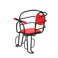 自行车儿童座椅 电动车电瓶车后座大护栏后置快拆加宽脚蹬全围椅子靠背 红色拍双扶手座椅+螺丝+安全带