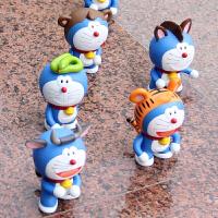 大号十二生肖多啦A梦机器猫叮当猫公仔手办模型玩具摆件全套12款