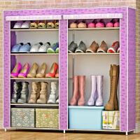 索尔诺简易鞋柜鞋架 组装多层铁艺收纳防尘布鞋柜现代简约0503C
