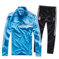 欧冠AC米兰切尔西皇马足球训练服 男 长袖套头足球运动训练服球衣 XX