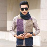 韩版情侣围巾百搭长款加厚毛线围巾年轻人学生男女针织围脖