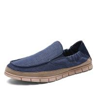 帆布鞋一脚蹬布鞋潮流男士乐福鞋透气板鞋韩版手工鞋子