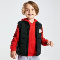 小猪班纳童装男童无袖外套冬季新款立领马甲儿童棉服宝宝棉袄上衣