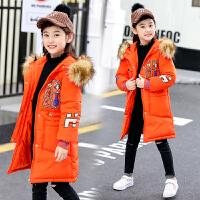 女童棉衣外套韩版秋冬季女孩棉袄中长款洋气冬装