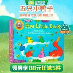 顺丰发货 英文原版童谣绘本 Five Little Ducks 五只小鸭 儿童启蒙早教绘本故事书 纸板撕不烂书 0-3
