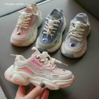 童鞋女童跑步运动男童网鞋春季儿童透气单鞋夏款老爹鞋