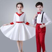 六一儿童演出服中小学生合唱服礼服女童公主裙朗诵表演服装
