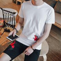 2018夏季新款男士运动套装韩版修身棉短袖T恤 短裤两件套 潮流