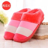 棉拖鞋包跟厚底情侣家居室内防滑保暖居家男女月子拖鞋